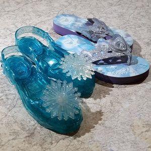 2 pair Kids Disney Frozen Elsa Sandals Stride Rite